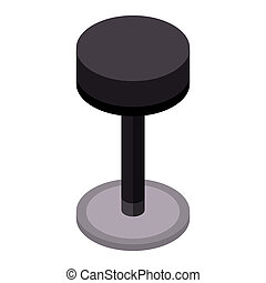 Bar chair icon, isometric style