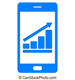 Bar chart and smartphone