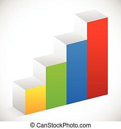 Bar chart, bar graph element. Eps 10 vector illustration