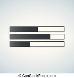 bar chart flat icon, vector illustration isolated on white background.