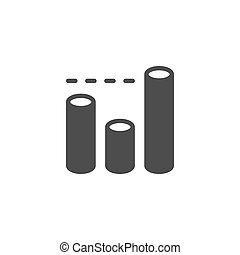 Bar chart icon and infographic concept