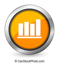 bar chart orange icon