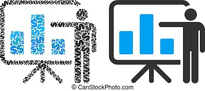 Bar Chart Presentation Composition of Dollars - Bar chart...