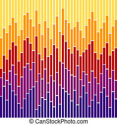 Bar Chart Stripes-Sunset Colours - Vertical stripes in...