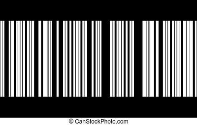 bar code - bar-code in black