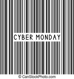Bar code. Barcode. Cyber Monday.