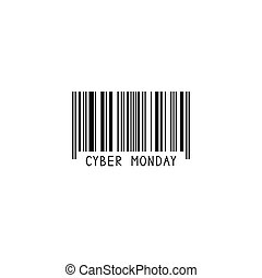Bar code. Barcode. Cyber Monday. Sale.