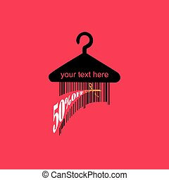 bar code concept with hanger vector illustration