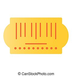 Bar code flat icon. Sticker color icons in trendy flat style. Scanner gradient style design, designed for web and app. Eps 10.