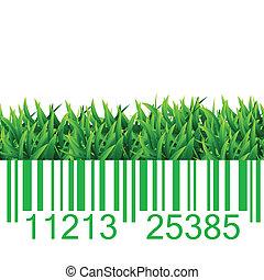 Bar code grass illustration