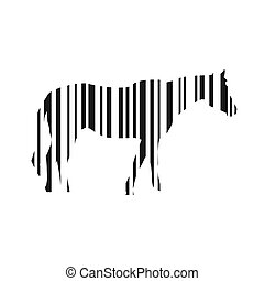 Bar Code Horse Illustration