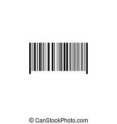 Bar code icon black on white background