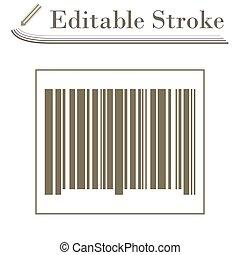 Bar Code Icon. Editable Stroke Simple Design. Vector...