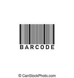 Bar code icon flat