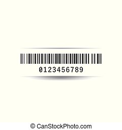 Bar code icon simple flat style vector illustration.