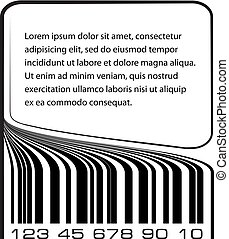 Bar code label with copy-space