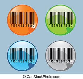Bar code labels, vector illustration