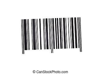 bar code marking of goods isolated on  white background