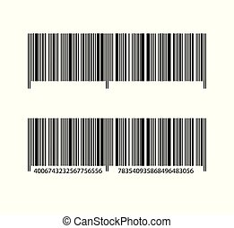 Bar code. On isolated white background, realistic vector design for your business ideas.