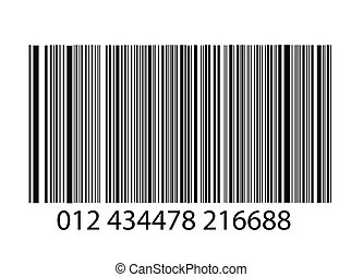 bar-code on white background