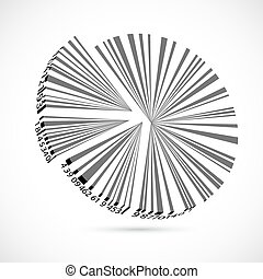 Bar Code Pie Chart - illustration of bar code pie chart on...