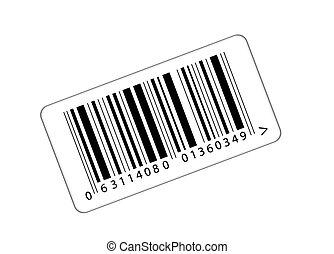 bar- code - sticker with the bar-code