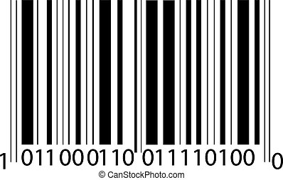 bar code - the bar-code, isolated