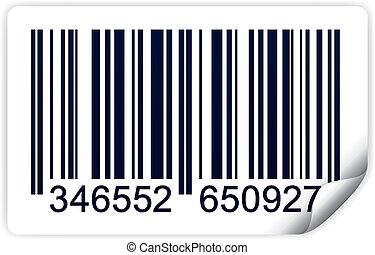 Bar code - Vector illustration of bar code isolated on white...