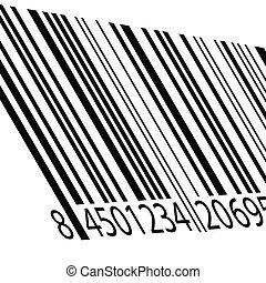 bar code vector illustration on a white