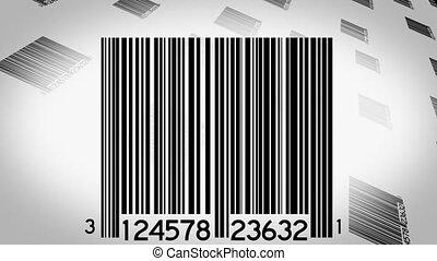Bar Codes Scanned Background Three