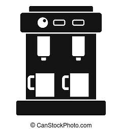 Bar coffee machine icon, simple style