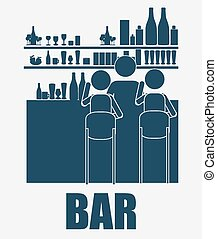 bar, desing, vector illustration. - bar, desing over, white ...