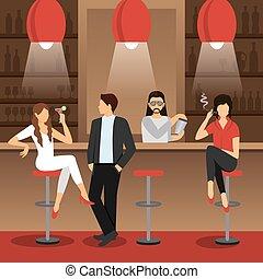 Bar Flat Illustration