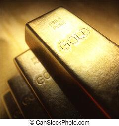 bar, gram, goud, 1000