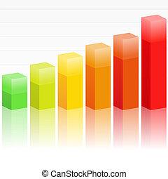 Bar graph - Illustration of rising bar graph