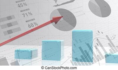 Bar graph increasing
