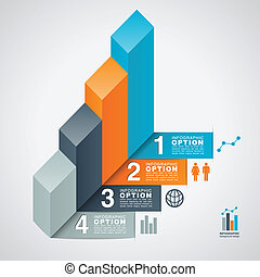 Bar Graph Infographic Option Backgr - Infographic option...