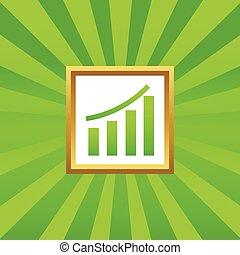 Bar graphic picture icon