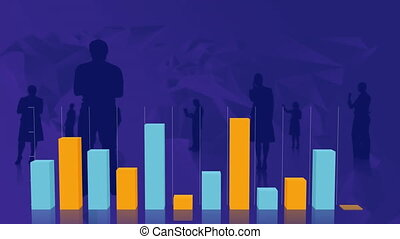 Bar graphs with silhouettes