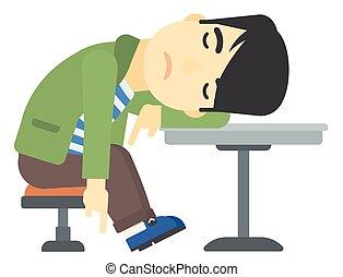 bar., homem dormindo