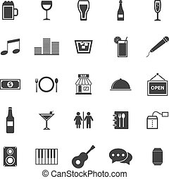 Bar icons on white background