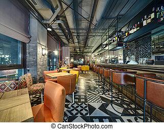 bar, in, mexikanisch, gasthaus