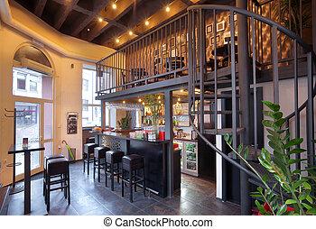 bar, interior