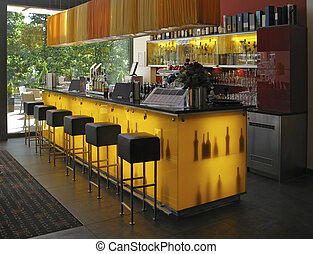 bar interior - interior view showing a bar in Spain