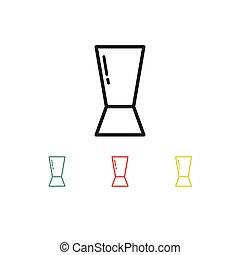 bar jigger line icon, vector illustration
