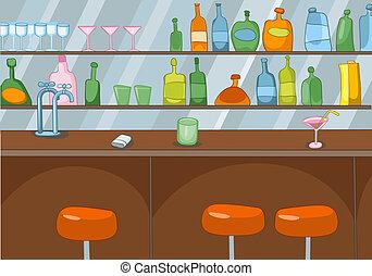 bar, karikatur