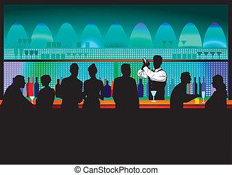 bar, kelner