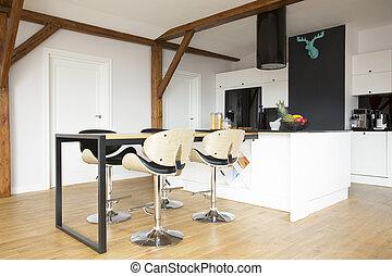 Keuken Bar Muur : Bar muur moderne krukken caffe thuis of keuken atmosfeer