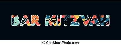 Bar Mitzvah Concept Word Art Illustration