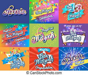 Bar Mitzvah invitation cards bundle